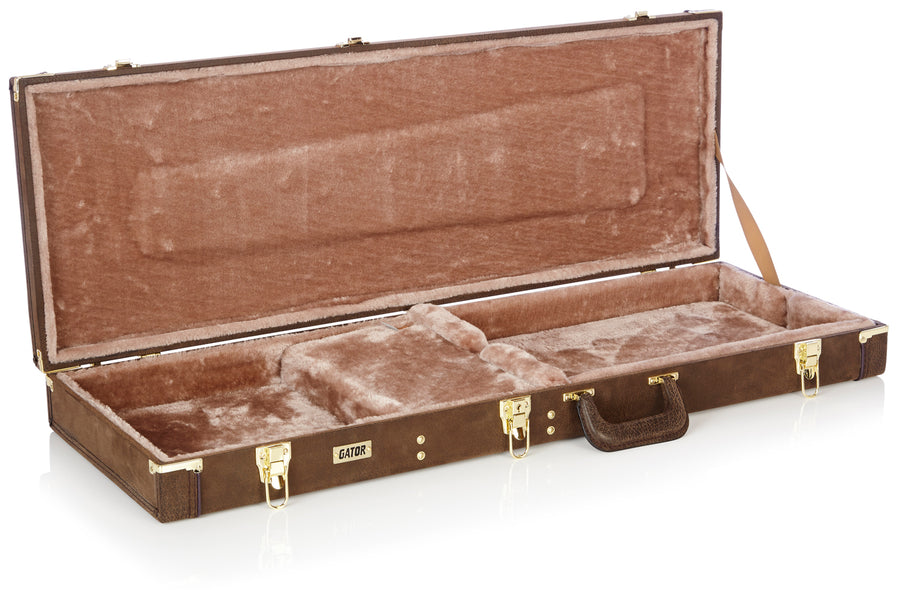 Deluxe Wood Vintage Brown Electric Guitar  Case (GW-ELECT-VIN)