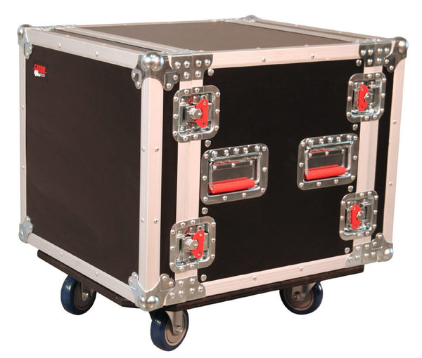 10U, Standard Road Rack w/ Casters (G-TOUR 10U CAST)