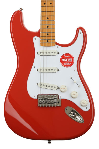 Squier Classic Vibe 50's Stratocaster Electric Guitar Fiesta Red Haggertys Music