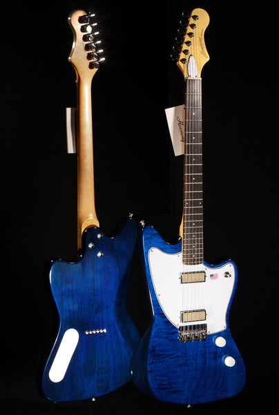 Harmony Silhouette Flamed Maple Transparent Blue w/Mono Case