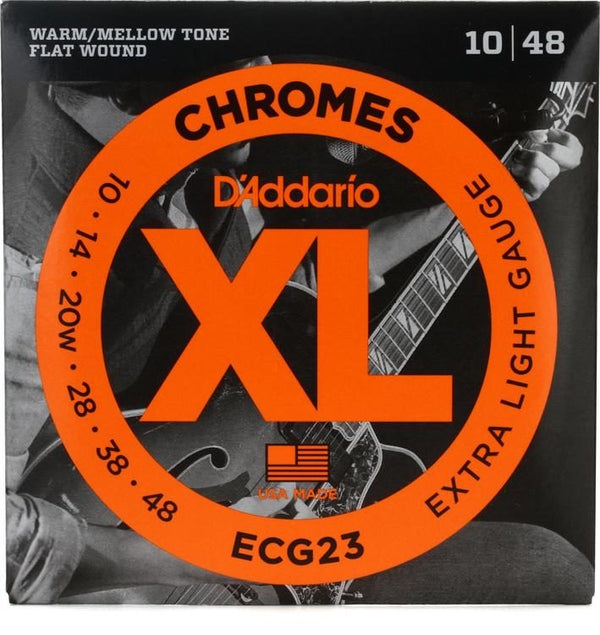 D'Addario-ECG23-Chrome-Flatwound-Electric-Guitar-Strings-10-48-Haggerty-Music
