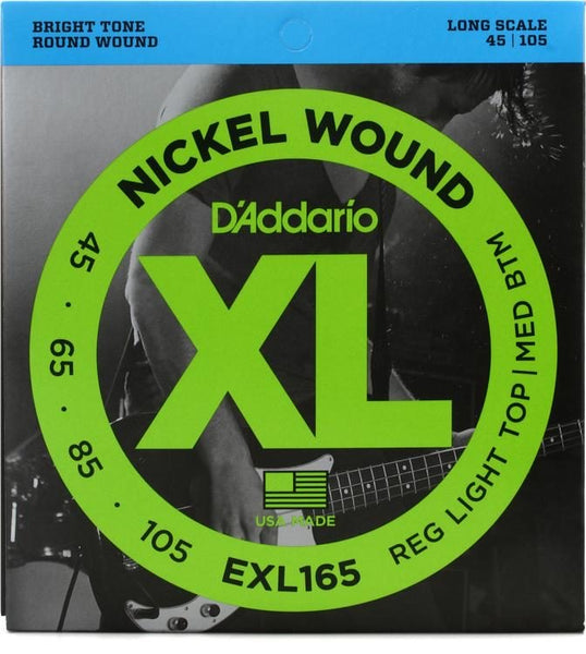 D'Addario EXL165 Bass Guitar Strings 45-105