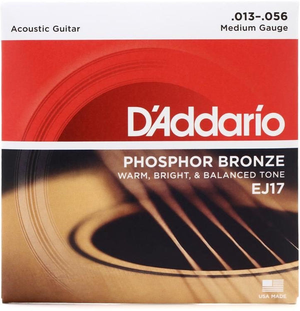 D'Addario EJ17 Phosphor Bronze Acoustic Guitar Strings 13-56