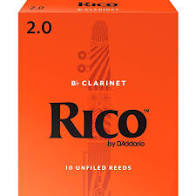 Rico Clarinet Reeds Strength 2, 10 Box