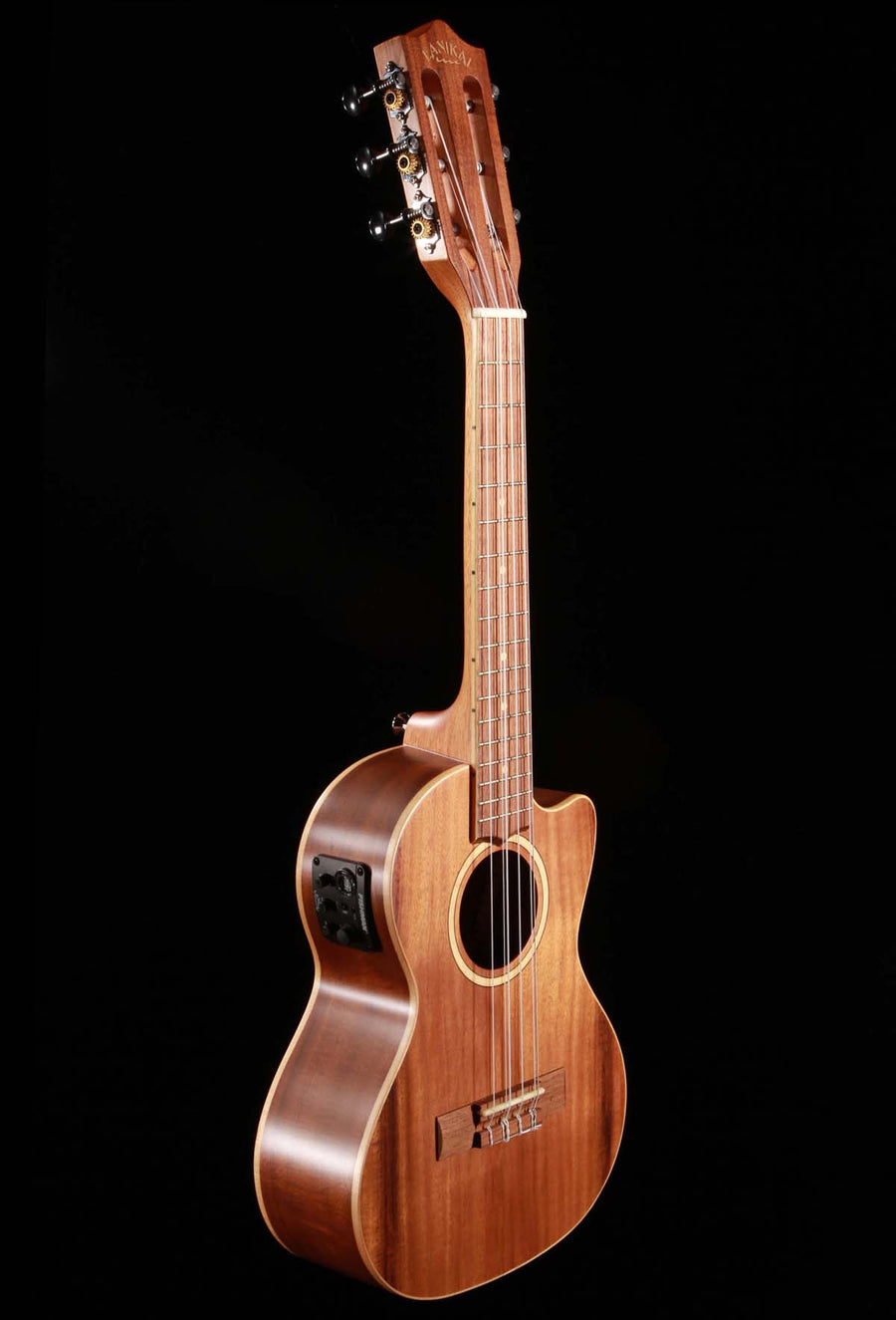 Lanikai ACST-6CET Acacia Solid Top 6-String Tenor Ukulele with Electronics