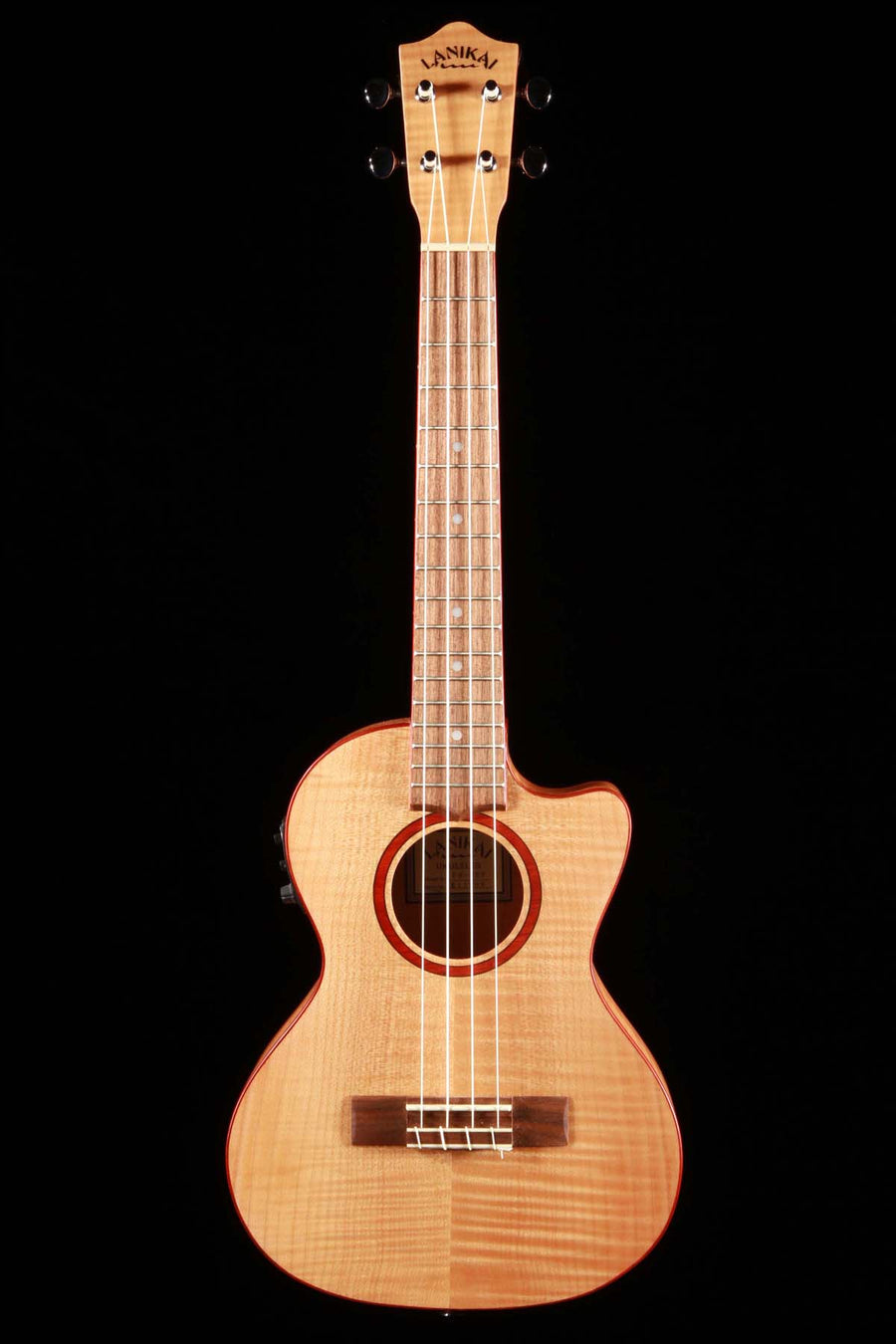 Lanikai FM-CET Flame Maple Tenor Ukulele Cutaway with Electronics