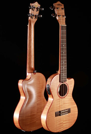 Lanikai FM-CETT Flame Maple Thin Tenor Ukulele Cutaway w/Electronics & Gig Bag