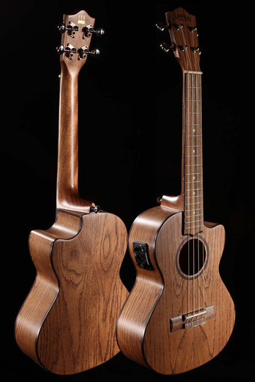 Lanikai OA-CET Oak Tenor Ukulele Cutaway with Electronics