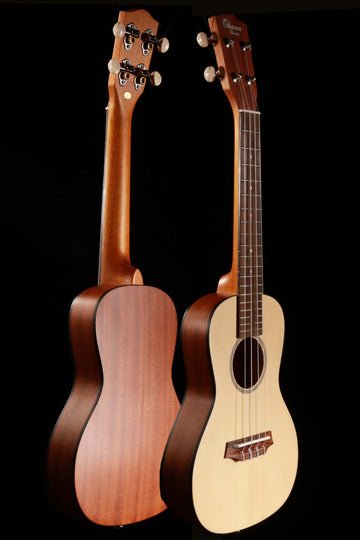 Ohana CKS-22E Solid Spruce Top Ukulele with Electronics