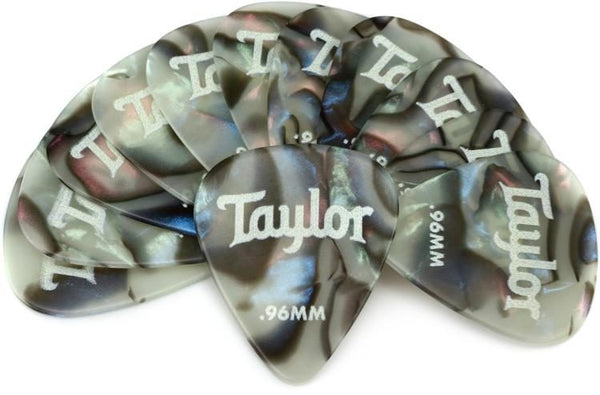 Taylor Celluloid 351 Picks, Abalone, 0.71mm, 12-Pack