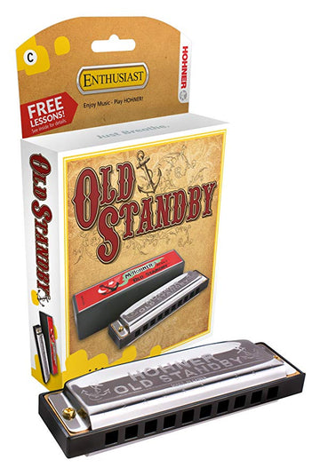 Hohner Harmonica, Old Standby, Key of D Major (34B-BX-D)