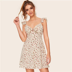 Floral Knot Sweetheart Dress