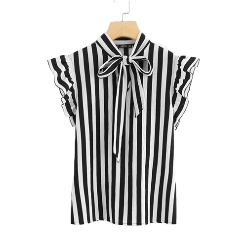 Workwear Striped Blouse