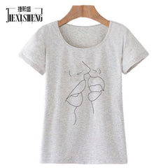 Women Casual O-Neck Graphic T-Shirt
