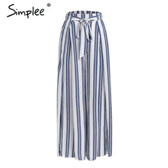 High-Waisted Striped Summer Skirt