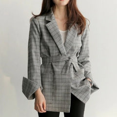 Plaid Office Blazer