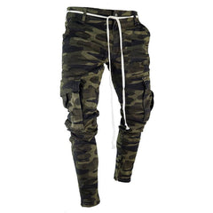 Striped Camo Cargo Pants