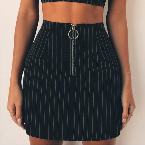 """New You"" Striped Skirt"