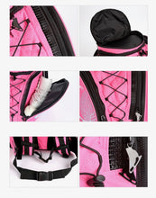 Load image into Gallery viewer, CUBE Skate Backpack Pink with blue dress spinner