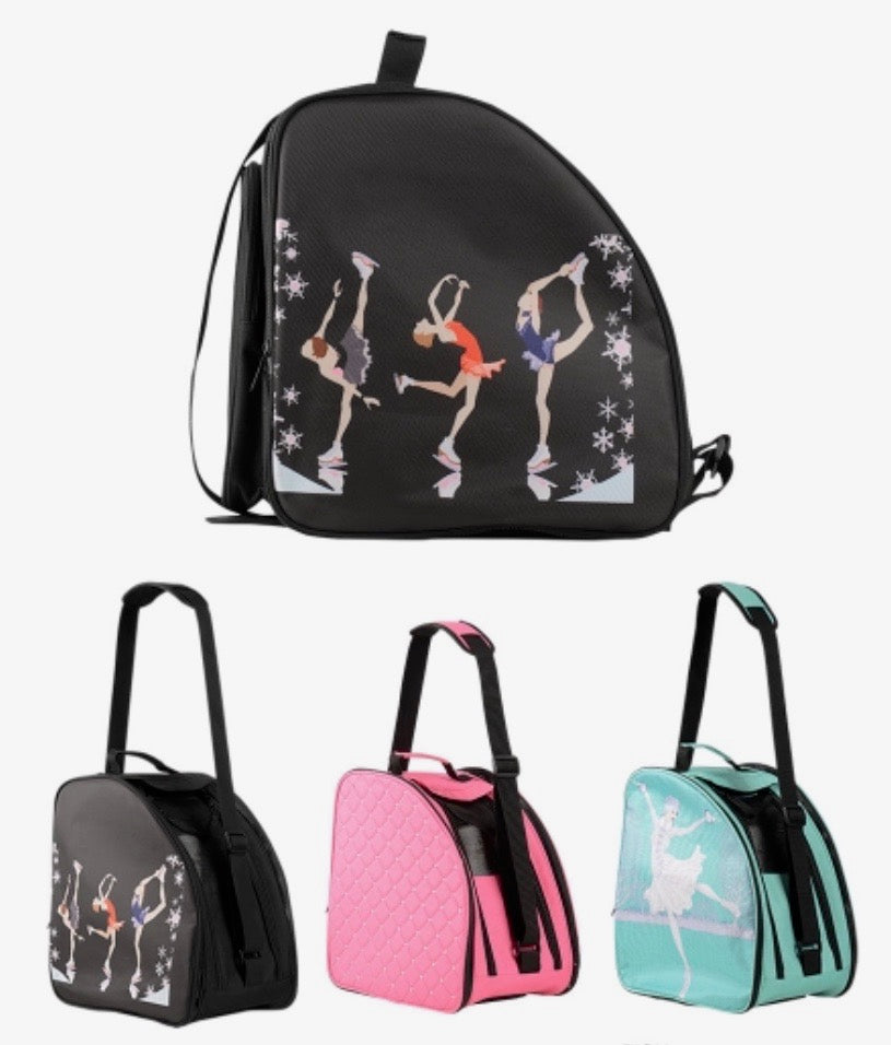CUBE Shoulder Bag Pink with best friends. (Fits all skates)