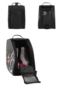 CUBE Shoulder Bag Black with three spinners
