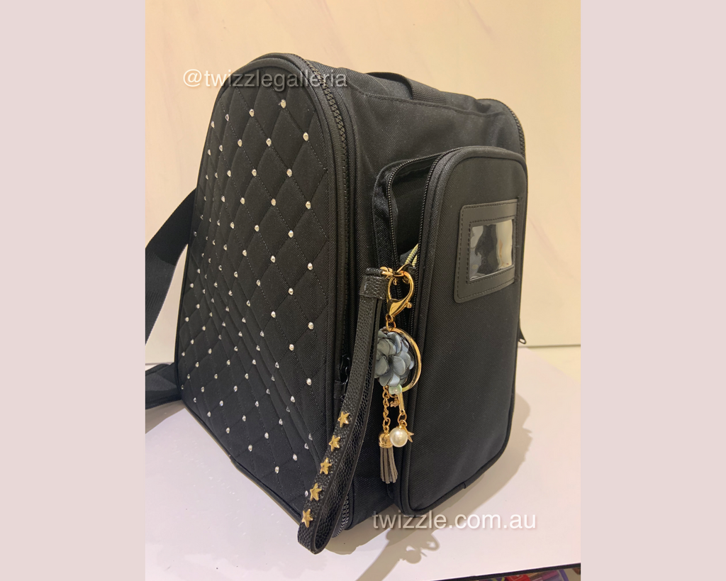 CUBE Shoulder Bag Black with crystals (Fits all skates)