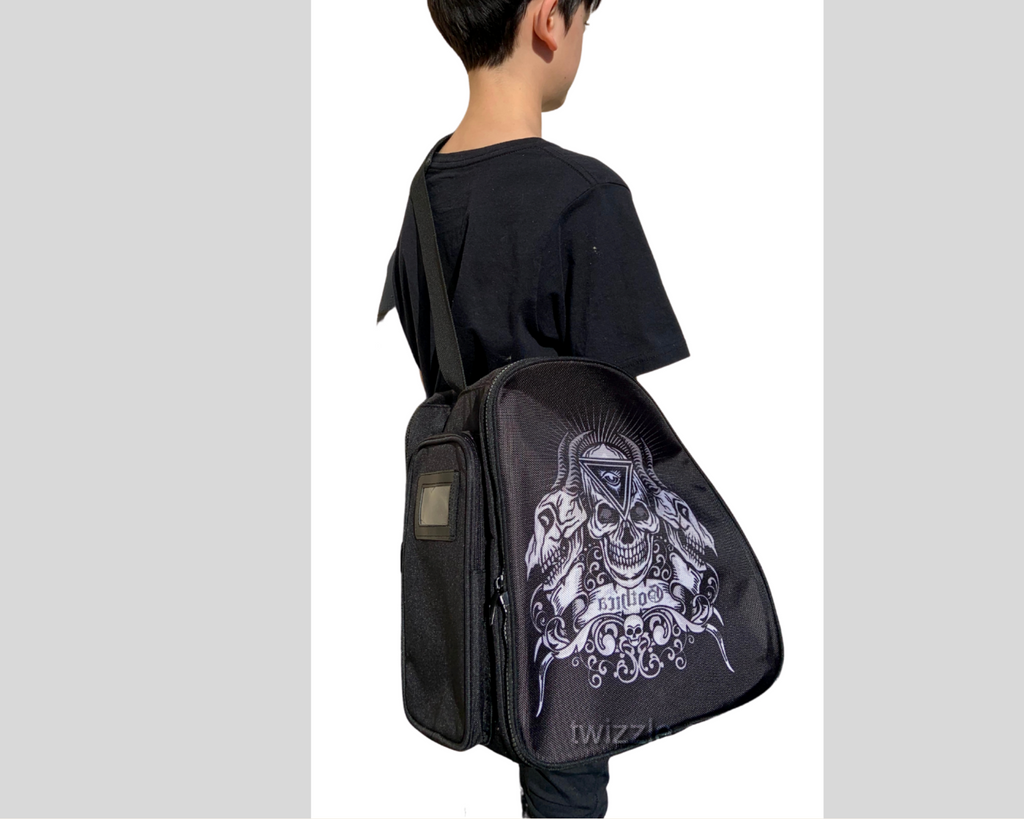 CUBE Shoulder Bag Black with skeleton (Fits all skates)