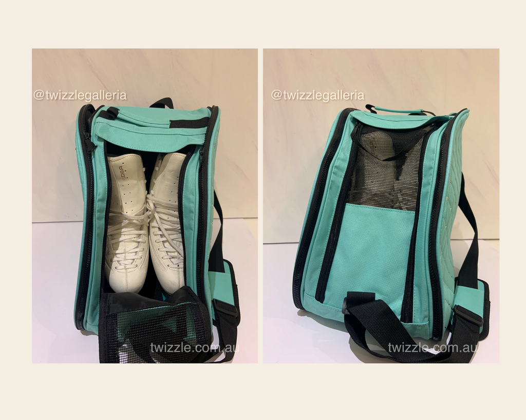 CUBE Shoulder Bag Mint Green with Blue dress spinner (Fits all skates)