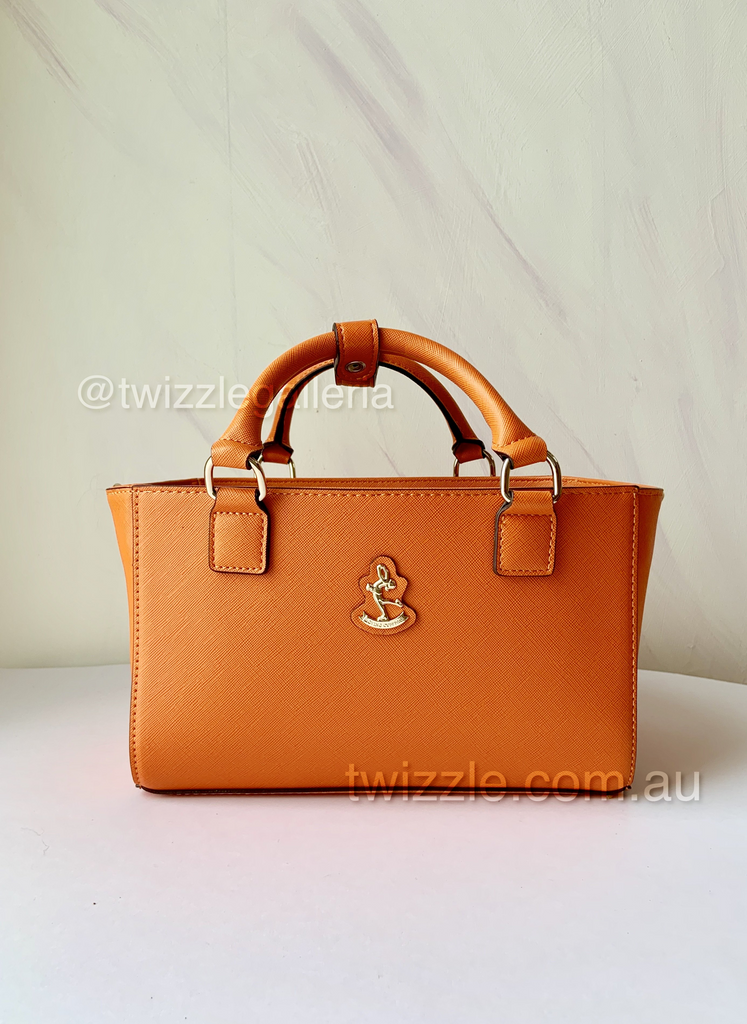 CUBE Saffiano Tote Bag, orange