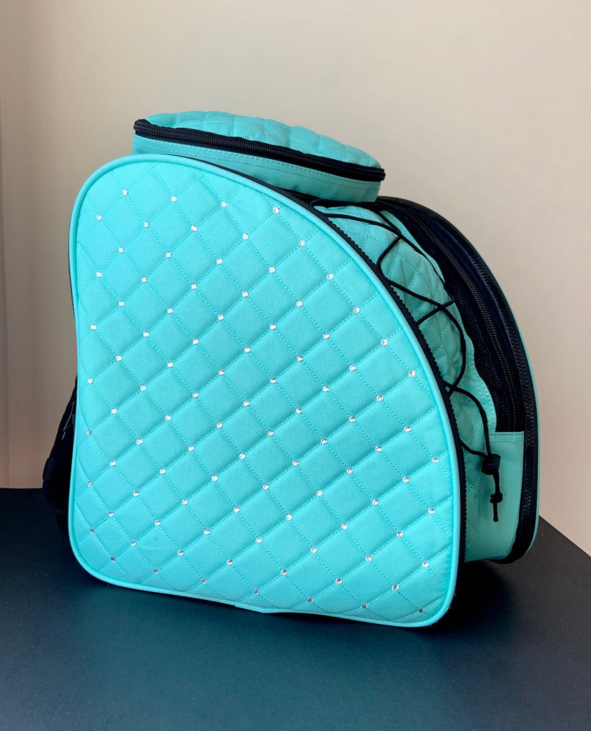 CUBE Skate Backpack Mint Green with crystals