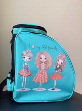 Load image into Gallery viewer, CUBE Skate Backpack Mint Green with best friends.