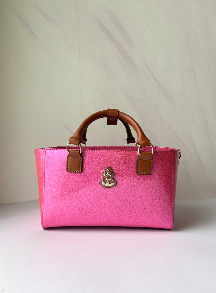Cube Tote Bag SHINY, pink CLEARANCE SALE!