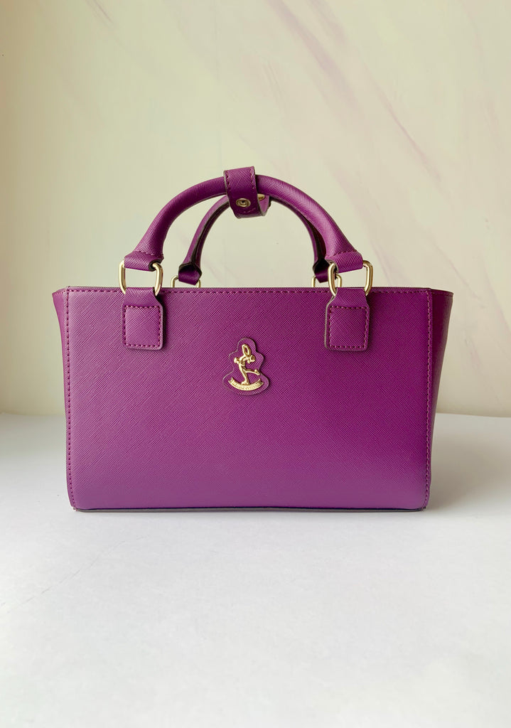 CUBE Saffiano Tote Bag, purple