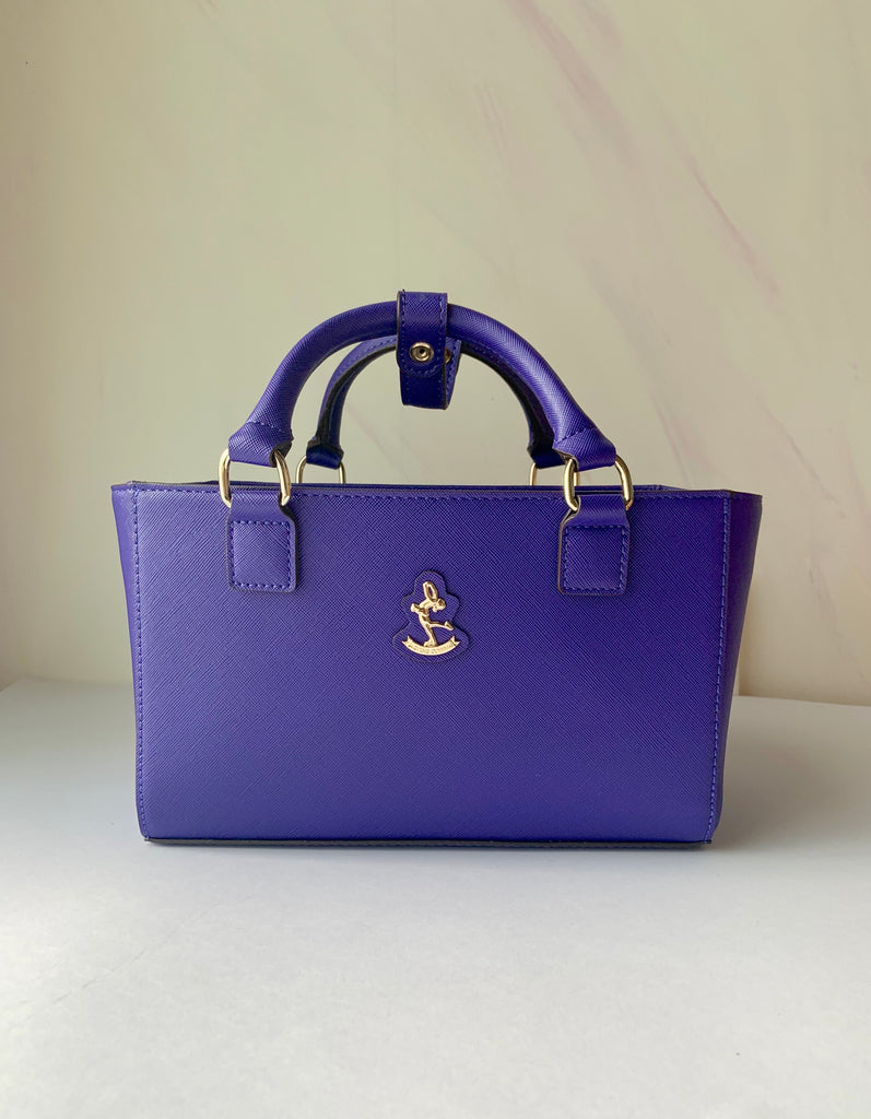 CUBE Saffiano Tote Bag, slate blue CLEARANCE SALE!