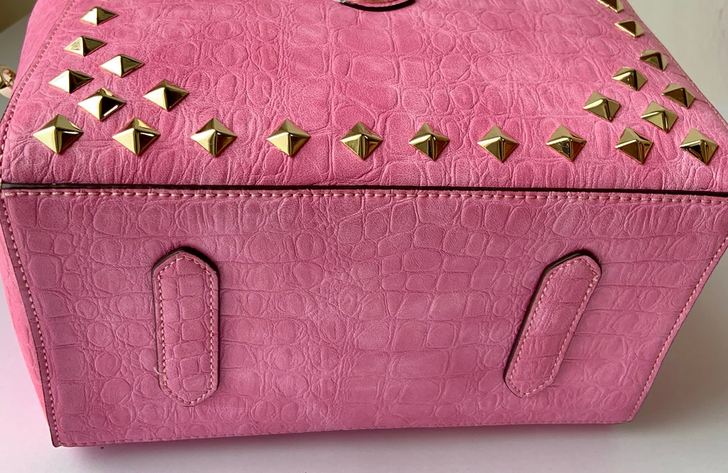 Cube Tote Bag EDGE, pink