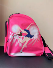 Load image into Gallery viewer, CUBE Shoulder Bag Pink with blue dress spinner.