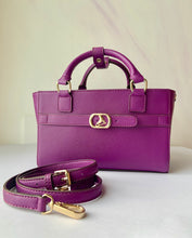 Load image into Gallery viewer, CUBE Saffiano Tote Bag, purple