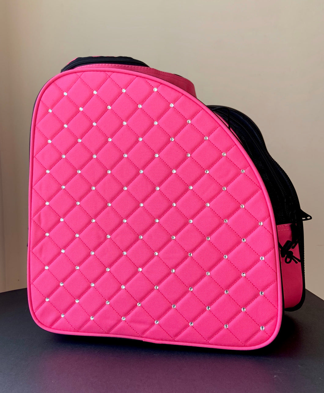 CUBE Skate Backpack Pink with crystals.