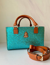 Load image into Gallery viewer, Cube Tote Bag BLING, cyan/G