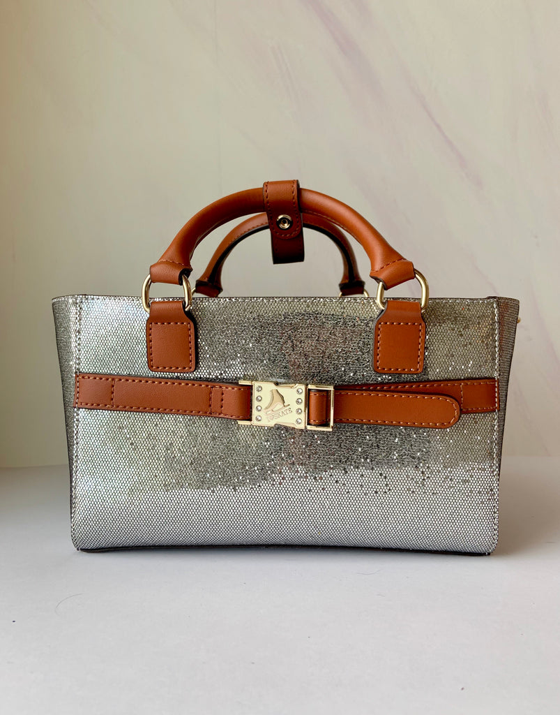 Cube Tote Bag TWINKLE, silver