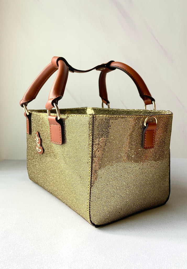 Cube Tote Bag TWINKLE, gold