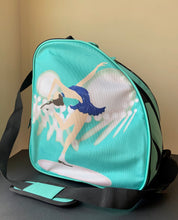 Load image into Gallery viewer, CUBE Shoulder Bag Mint Green with Blue dress spinner