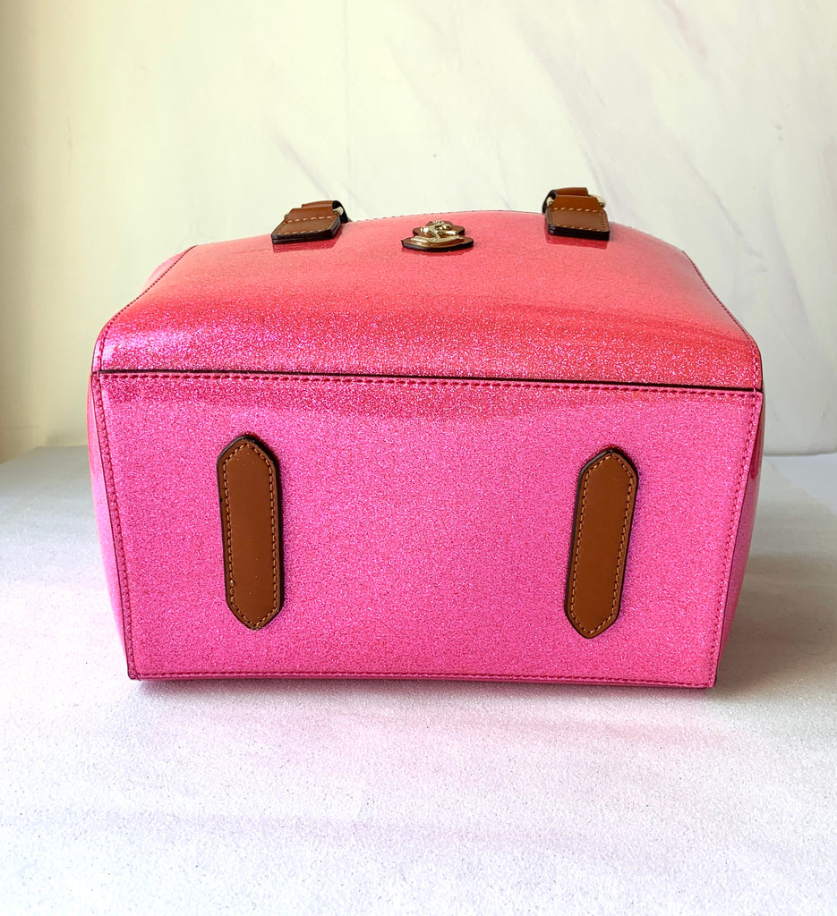 Cube Tote Bag SHINY, pink