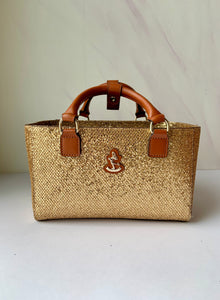 Cube Tote Bag BLING, gold/G