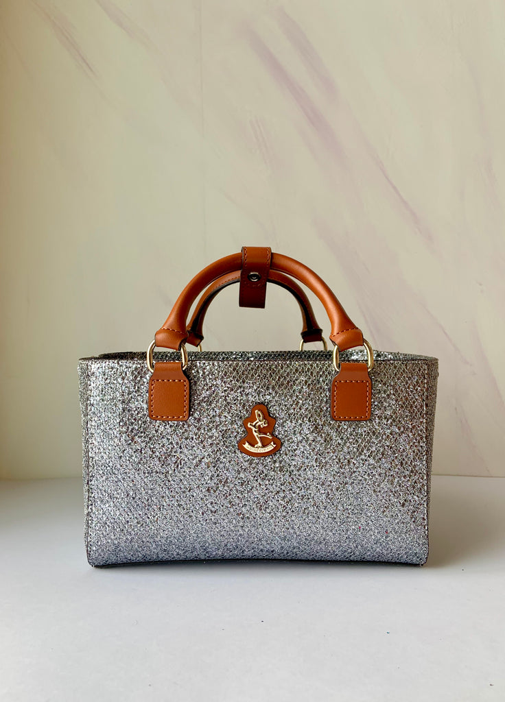 Cube Tote Bag BLING,silver/S CLEARANCE SALE!