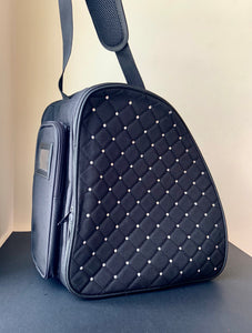 CUBE Shoulder Bag Black with crystals