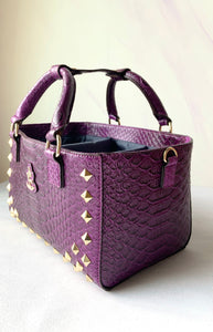 Cube Tote Bag EDGE, Purple