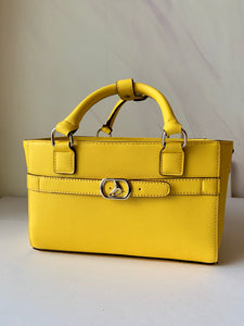 CUBE Saffiano Tote Bag, yellow