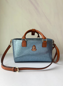 Cube Tote Bag SHINY, light blue