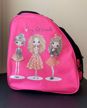 Load image into Gallery viewer, CUBE Skate Backpack Pink with best friends.